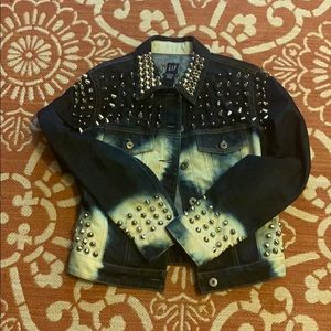 Studded denim jacket, size small
